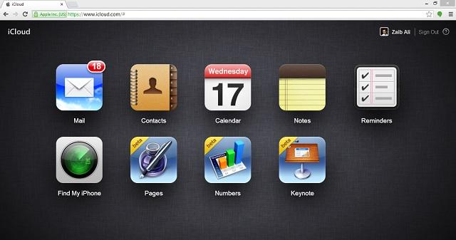 iCloud iWork beta 1