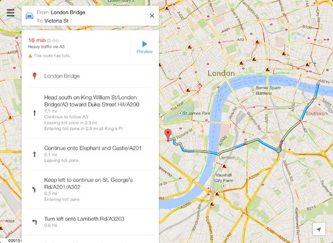 iPad Google maps app (1)