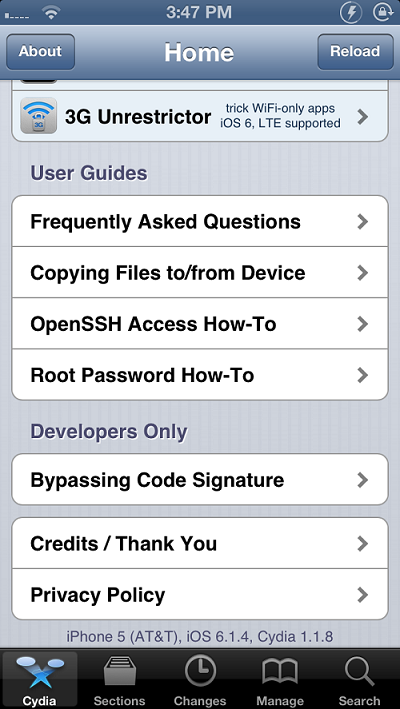 iOS 6.1.4 jailbreak iPhone 5