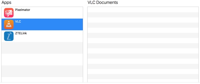 itunes vlc file sharing