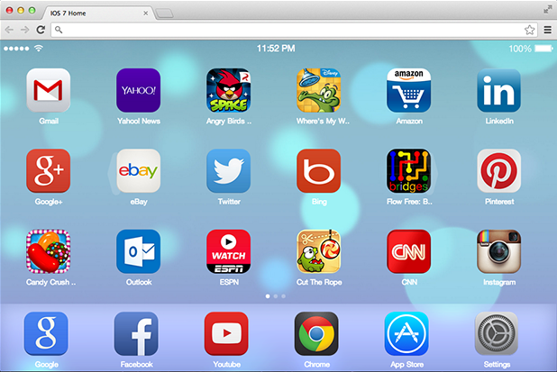 iOS 7 New page tab chrome extension main1