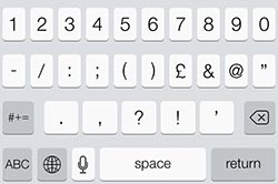 ios 7 keyboard puncuation