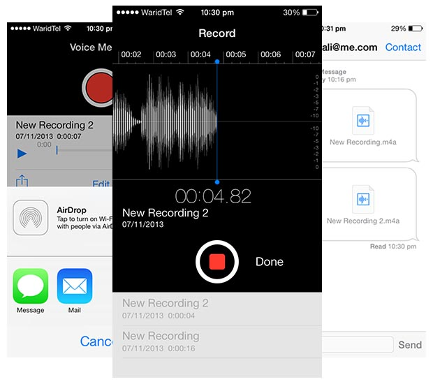 Voice Messages iMessage main