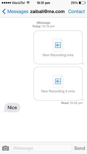 Voice messages iMessage 3