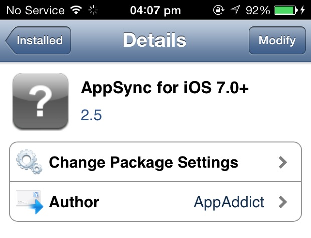 AppSync 7-0 iOS 7
