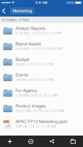Box app iOS