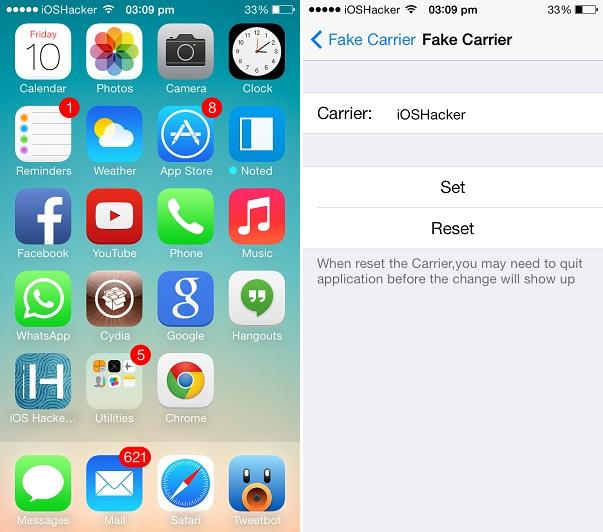 fakecarrier app