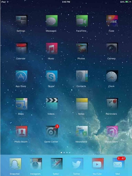 Ghost for iPad - theme