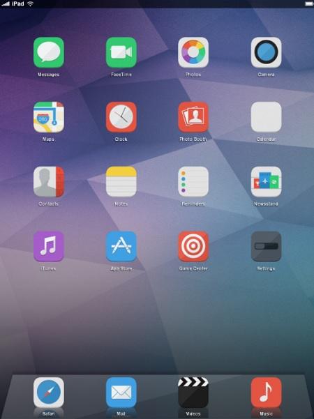 iOS 8 Infinity theme