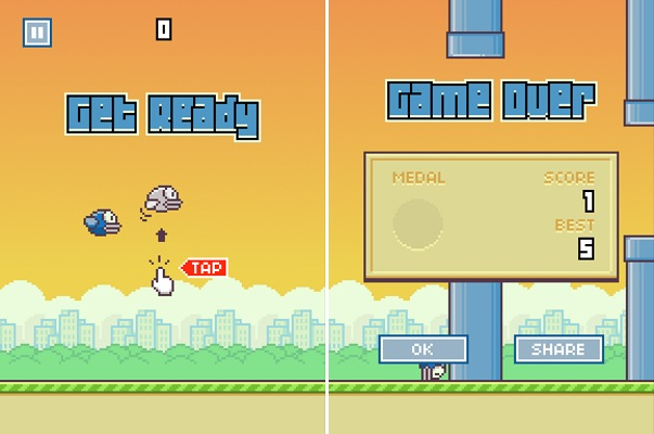 Blue bird flappy bird mod