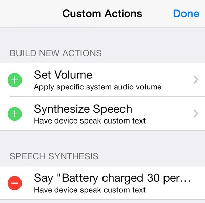Activator Custom Actions