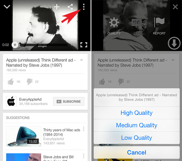 YouTuber tweak adds download feature to YouTube app for free - iOS