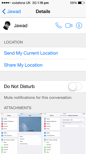 iMessage location how to iOS 8 (1)