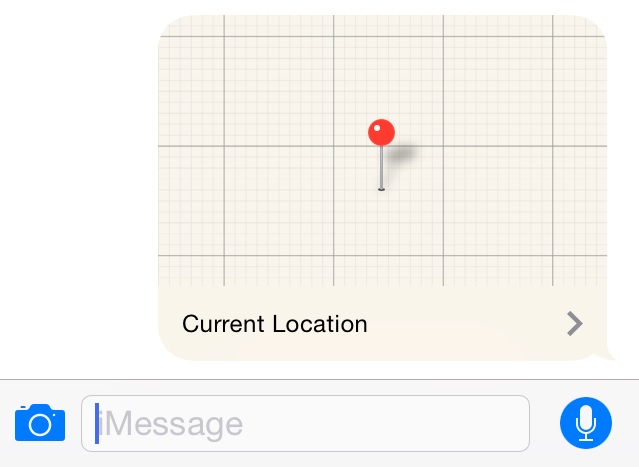 iMessage location iOS 8