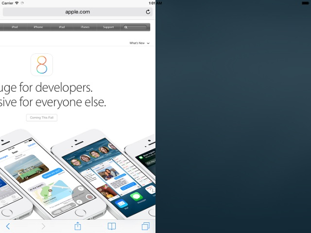 iPad split screen feature (1)