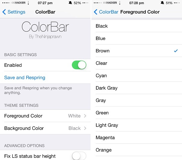 how to change imessage color cydia