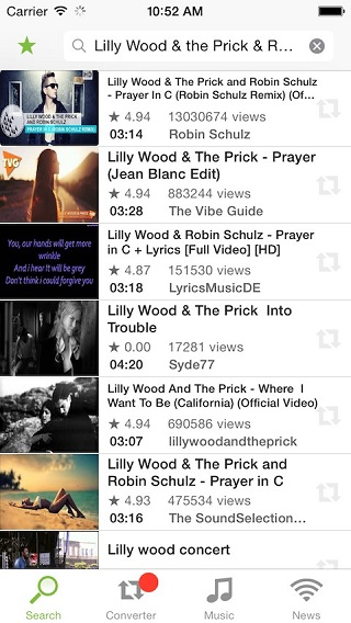 Download Youtube audio on your iPhone or iPad with YoutubeToMP3
