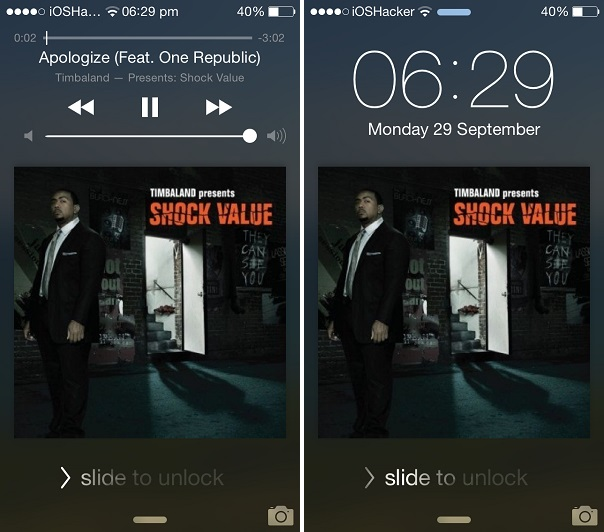 Lockscreen homebutton tip