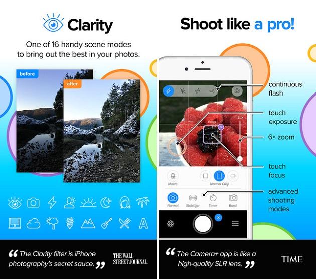Camera+ app 1