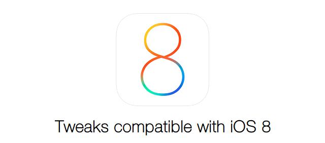 iOS 8 tweaks compatible