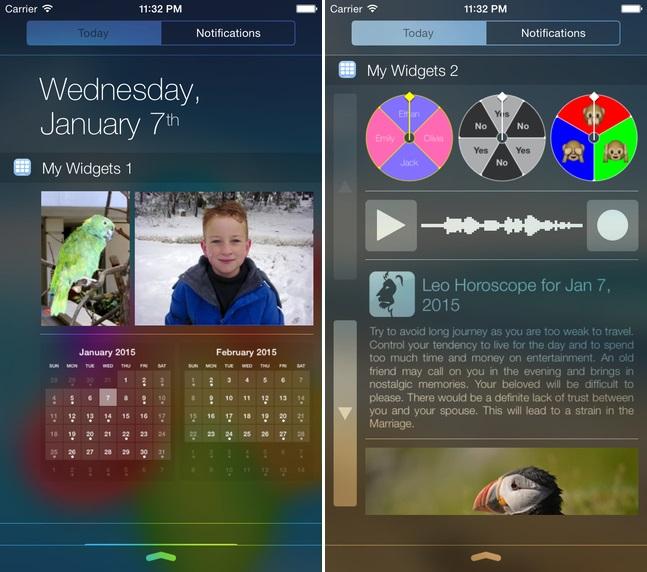My Widgets app