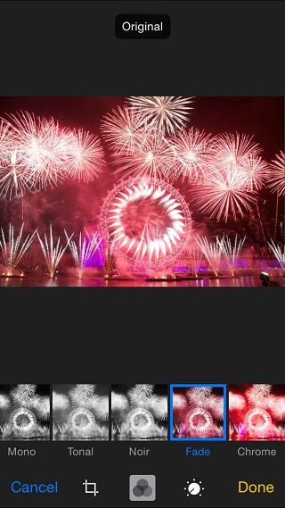 Original photo editing iOS