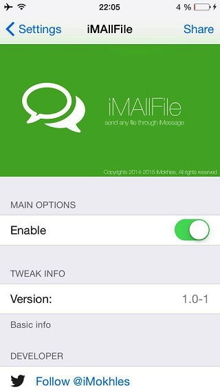iMAllFile tweak