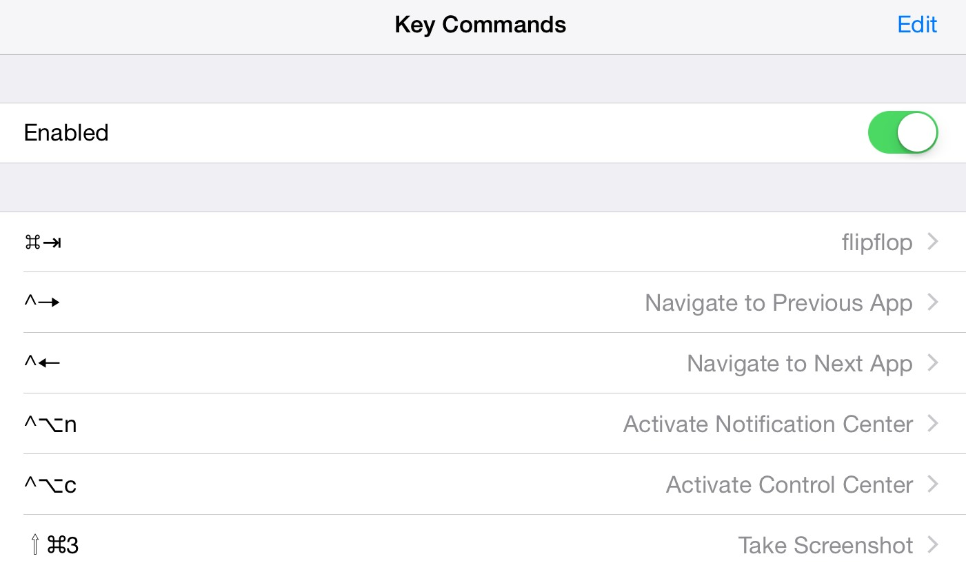 keyCommands tweak