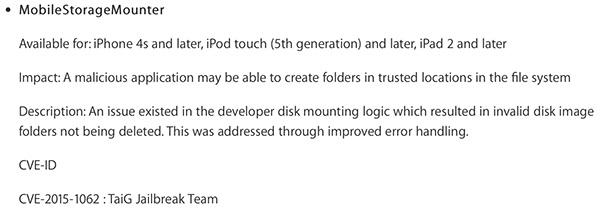 Apple TaiG fix