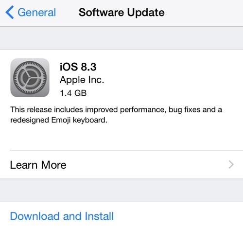iOS 8.3 release1