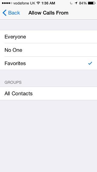 Do Not Disturb mode iOS 2