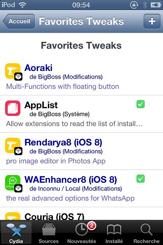 favoritetweaks tweak