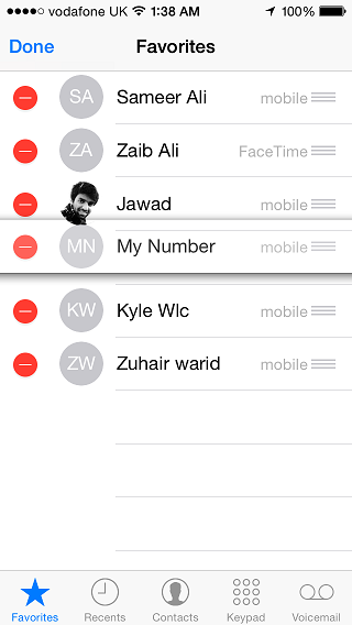 iOS Favorites contacts  (1)