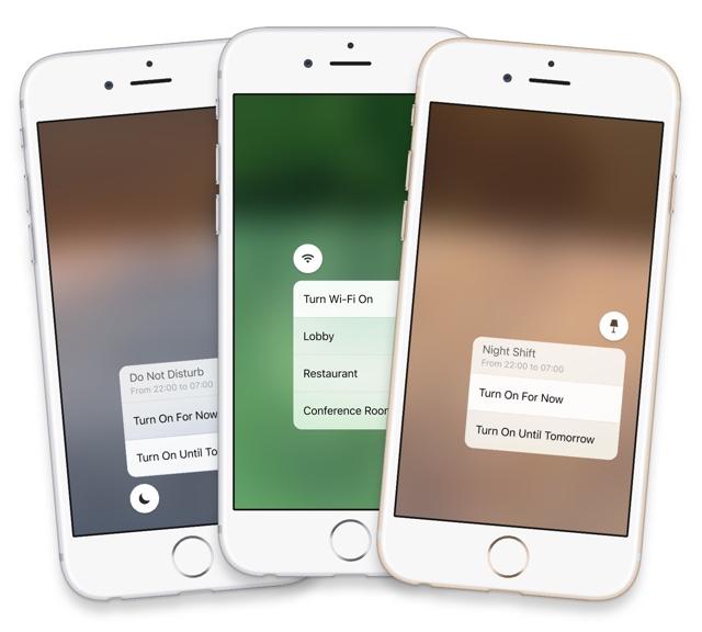 iOS 10 3D Touch CC