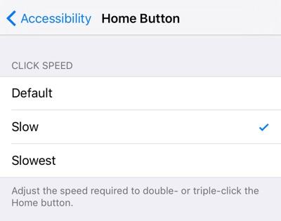 Home button speed