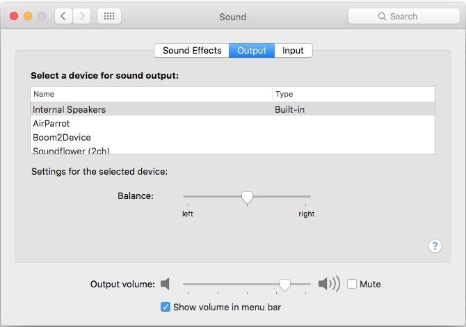 Mac Sound Settings