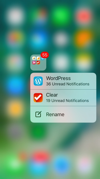 App Notifications Folders iOS 10