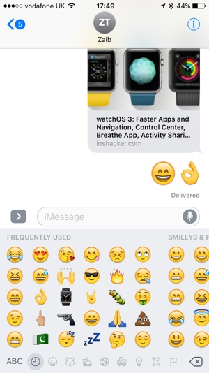 Larger Emojis iOS 10