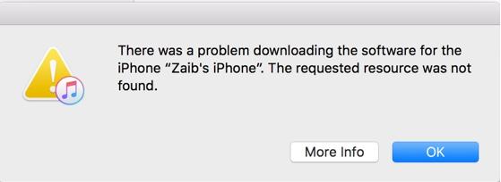 iTunes Error1111