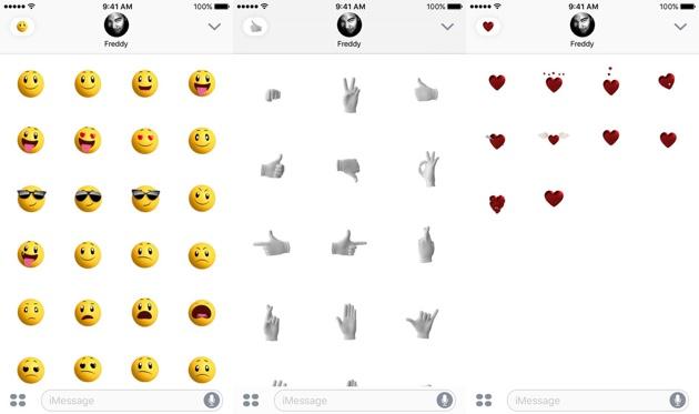 Apple Stickers iOS 10