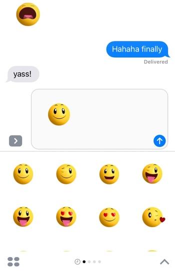 Smileys iOS 10 Stickers