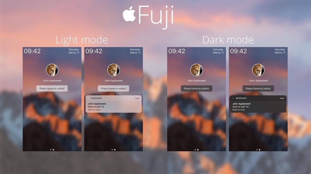 Fuji LockHTML Theme Adds macOS Inspired Lockscreen To iPhone - iOS
