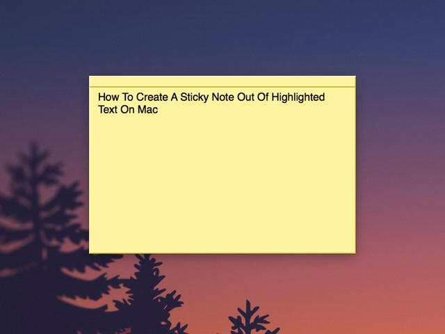 how to get sticky notes on mac desktop