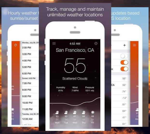 Get taste of iOS 7 with Aero weather app for iPhone