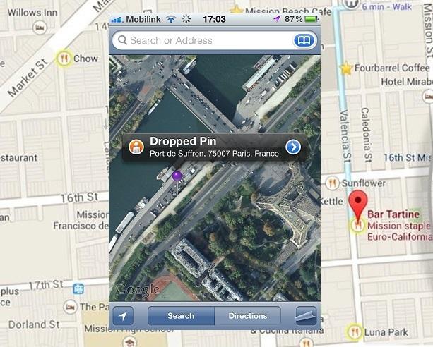 google maps dropped pin sdada