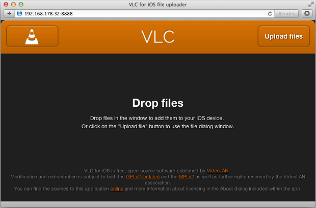 How to direct download files into vlc for ios? - My Cloud