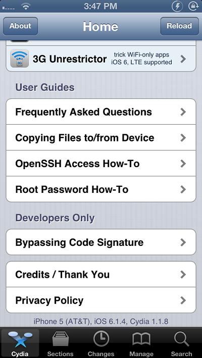 iOS 6.1.4 jailbreak iPhone 5