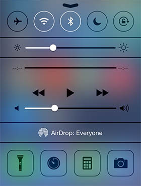 airdrop ios 7 side