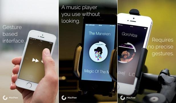 Listen Gesture music player iPhone