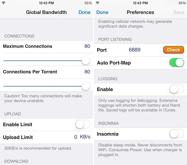 iTransmission iOS 7 (1)